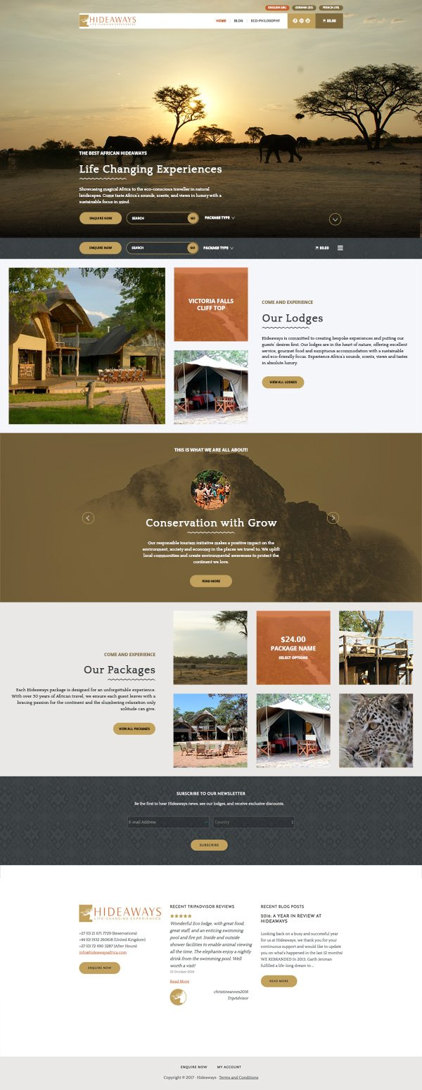 Hideaways Africa Website Redesign