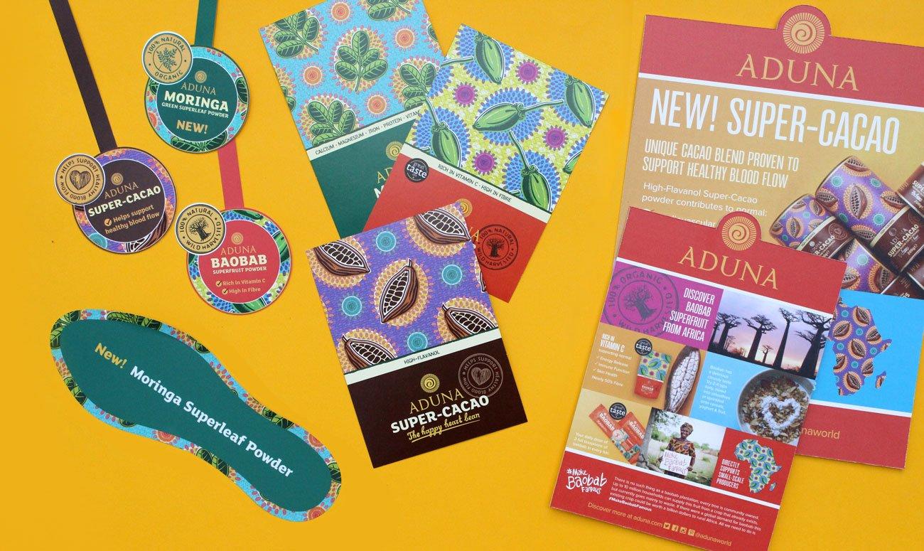 Image of Aduna various marketing material