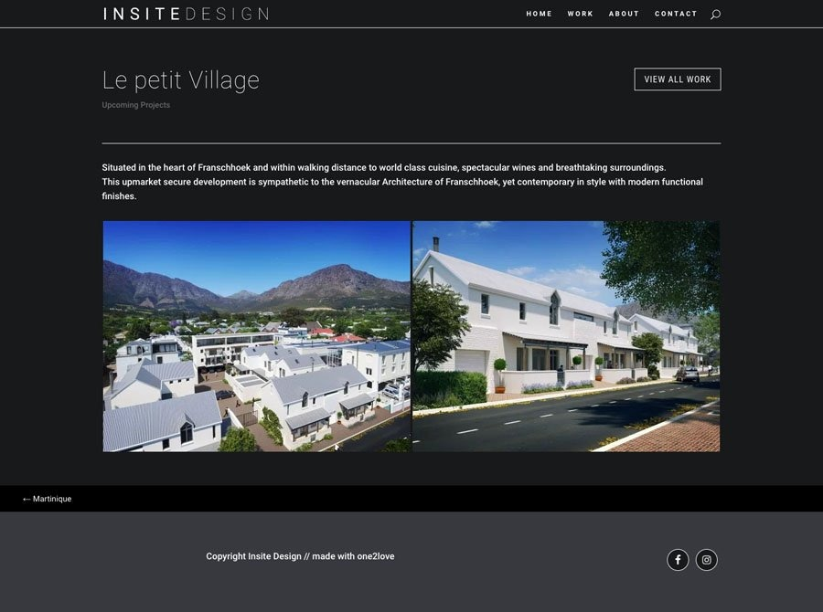 Insite Design Upcoming Projects Page