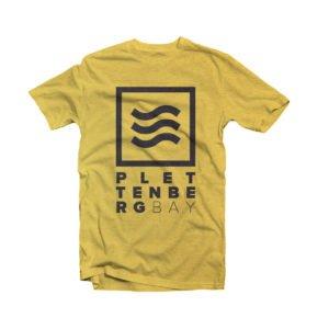Surfing Life Mustard and Black Plettenberg Bay T-shirt Image