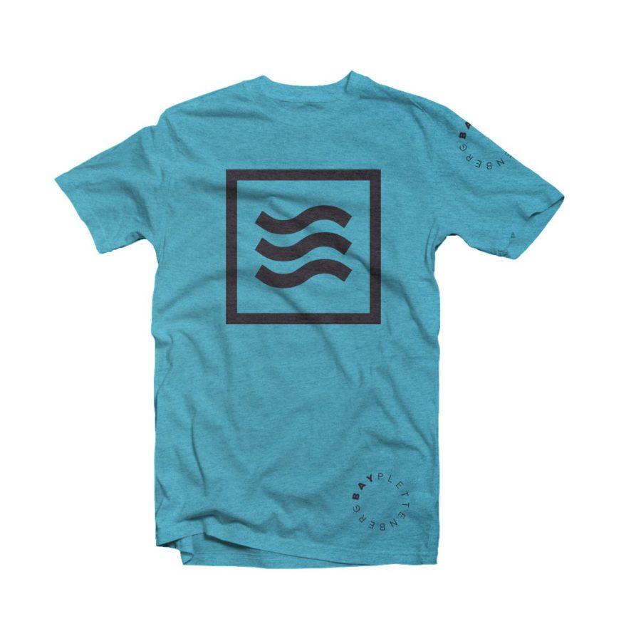 Surfing Life Blue and Black Plettenberg Bay T-shirt Image