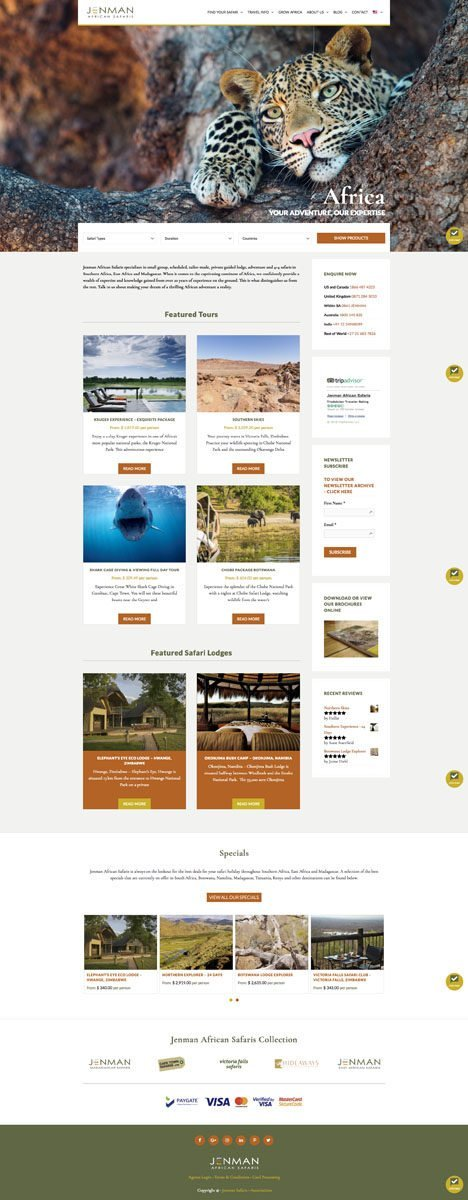 Jenman Safaris Featured Tours