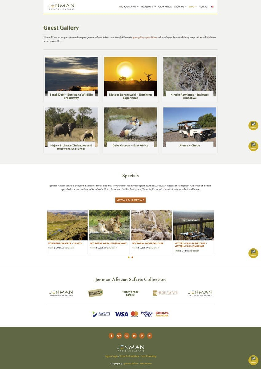 Jenman Safaris Guests Gallery