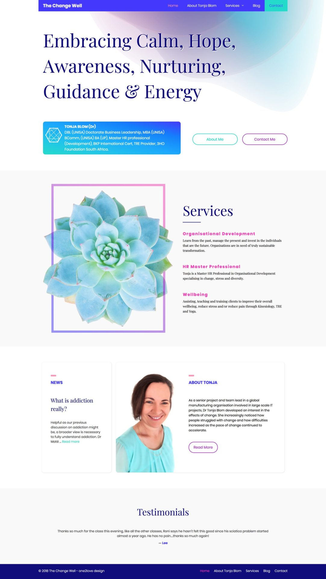 The Change Well Home Page