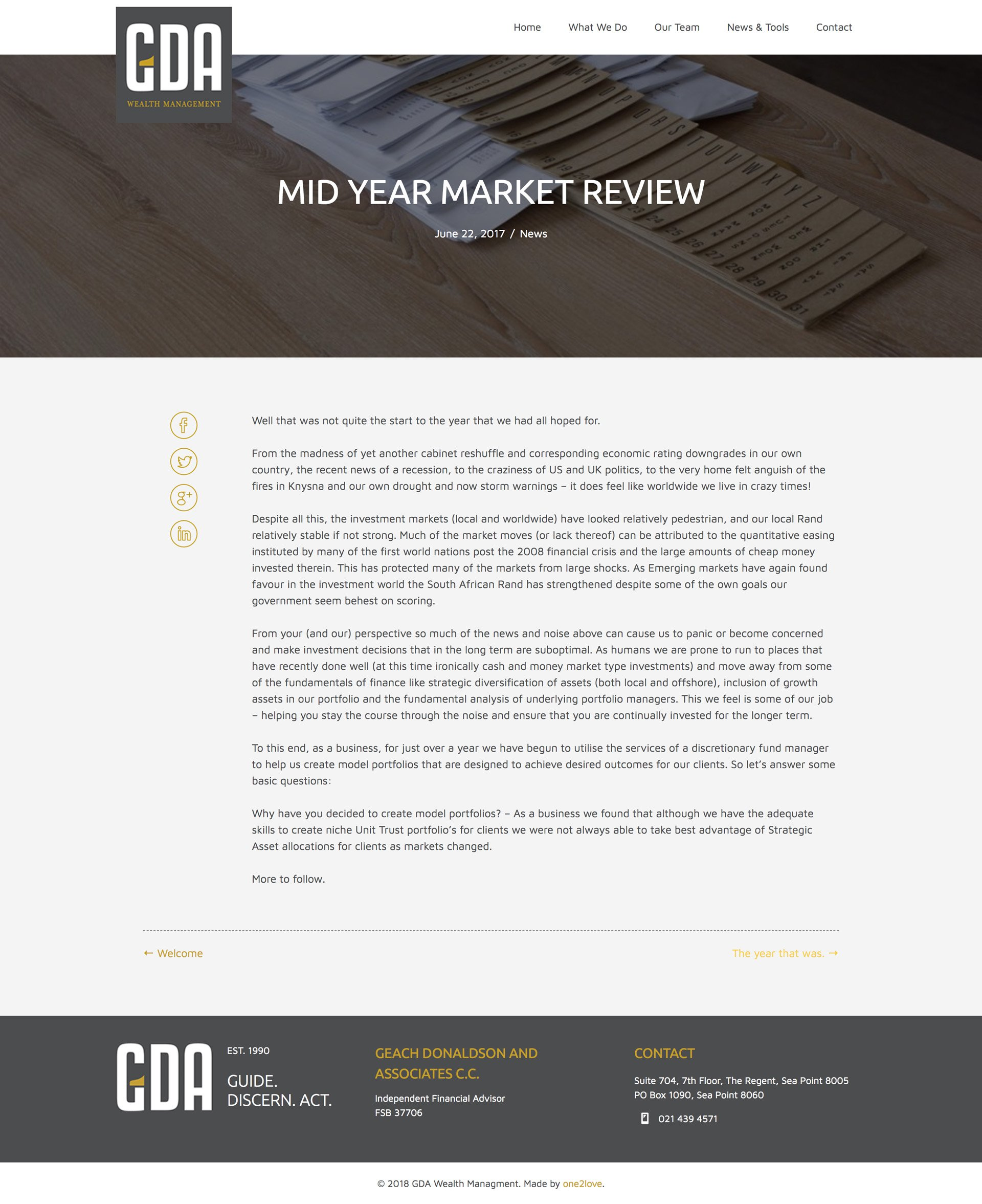 GDA Mid Year Market Review