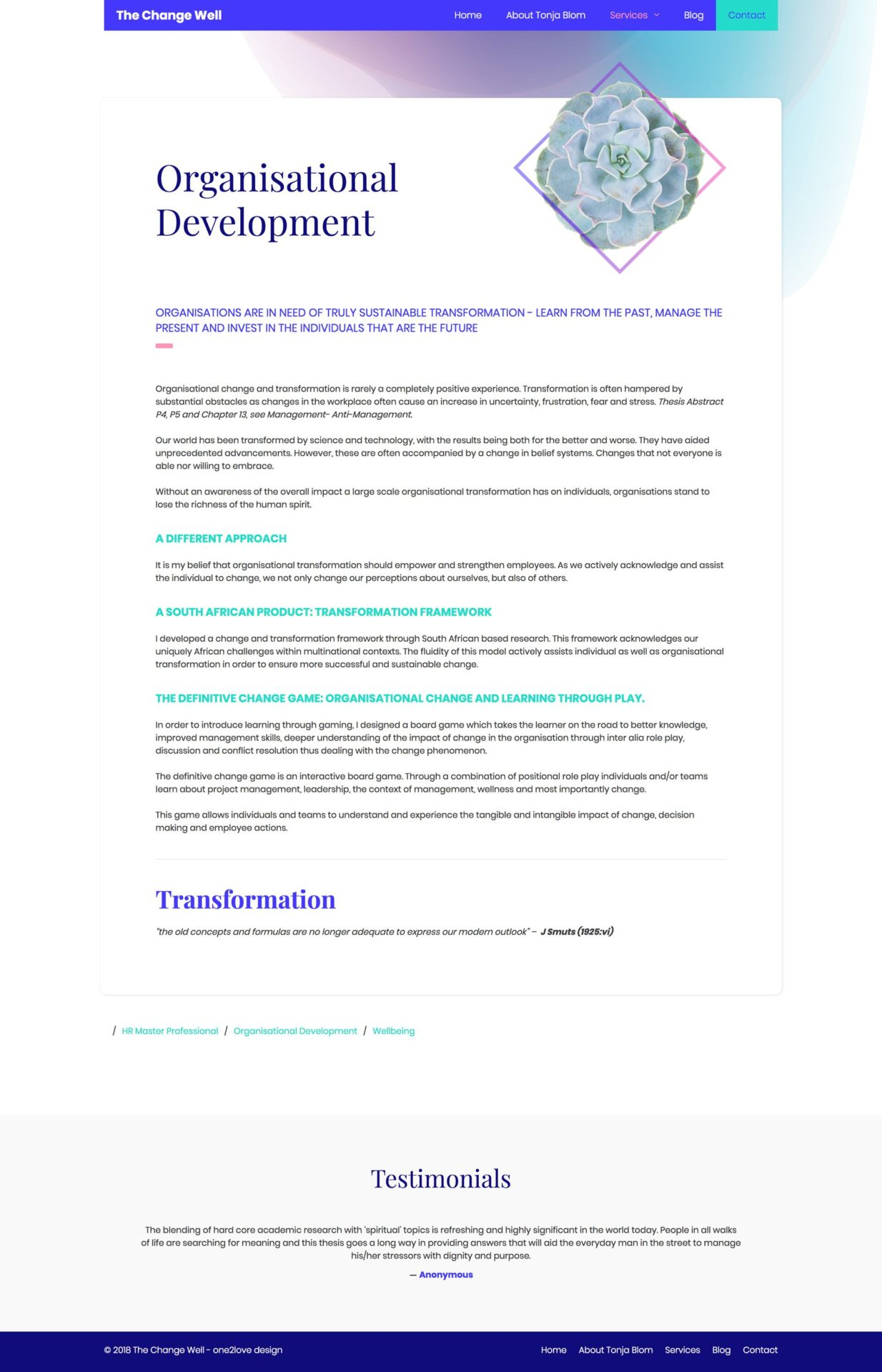 Services Overview Organisational Development