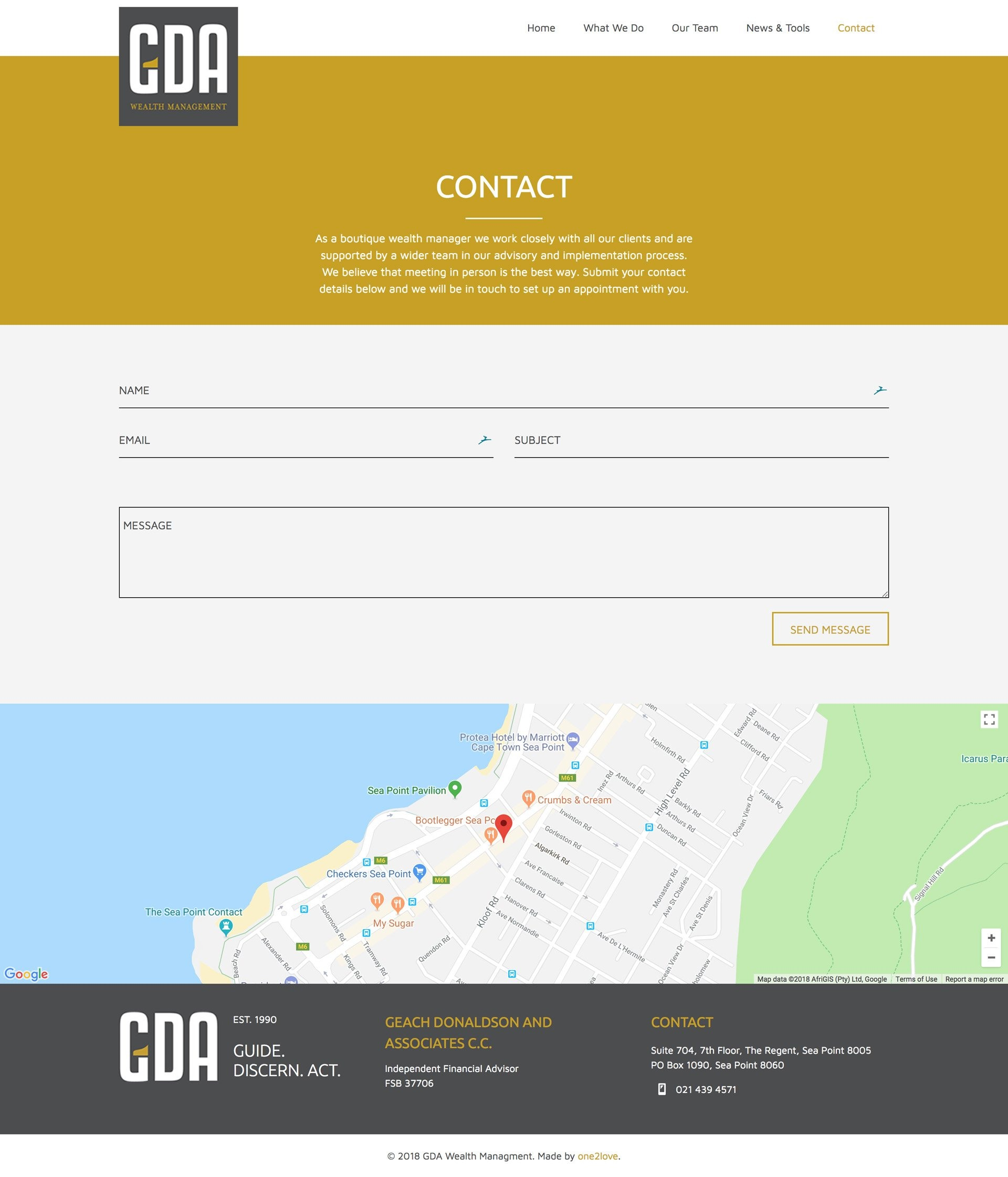 GDA Contact Page