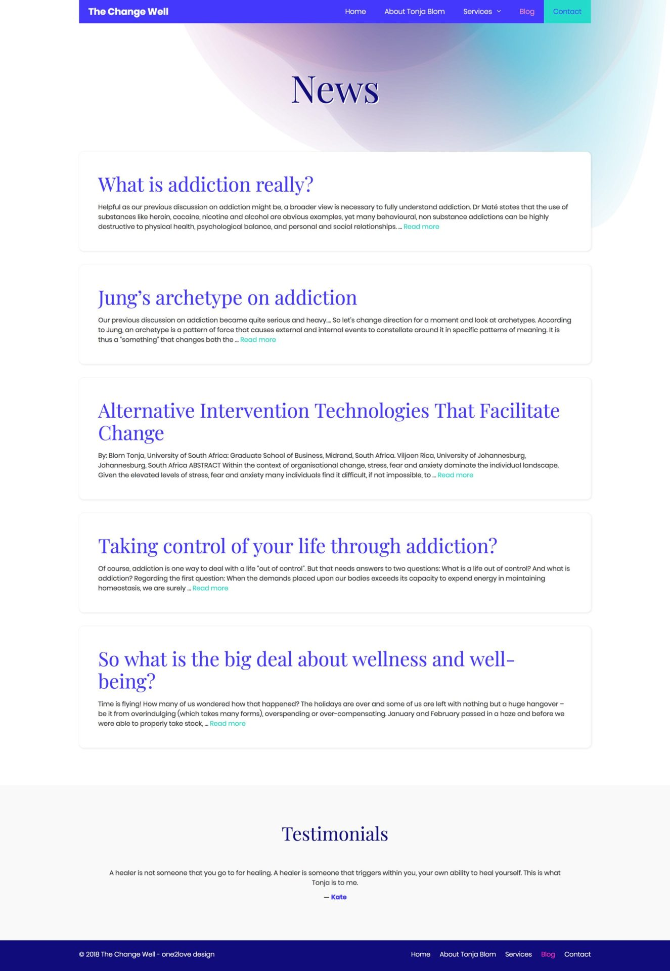 The Change Well Blog Recent News