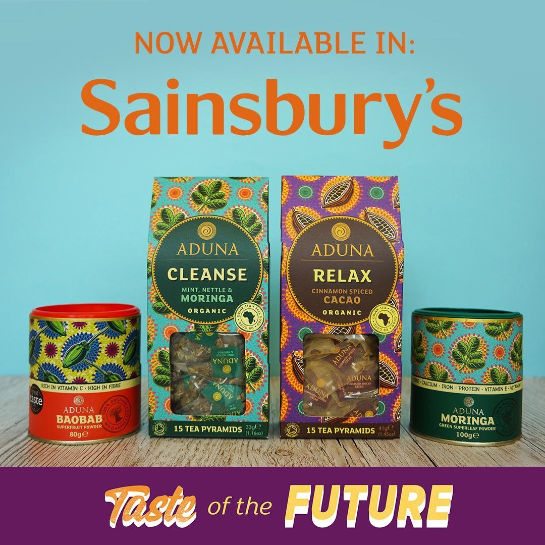 Aduna now available in Sainsbury's 2